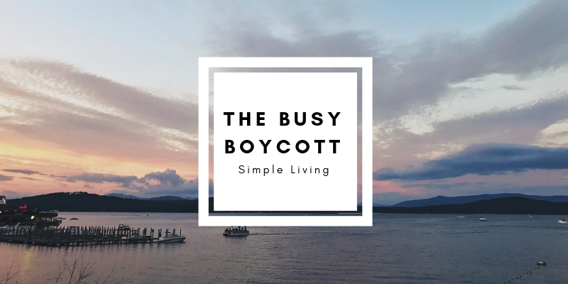 The Busy Boycott Challenge Introduction