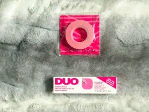 Sephora Collection Line Up Makeup Tape (top), Duo Eyelash Adhesive in Black (bottom)