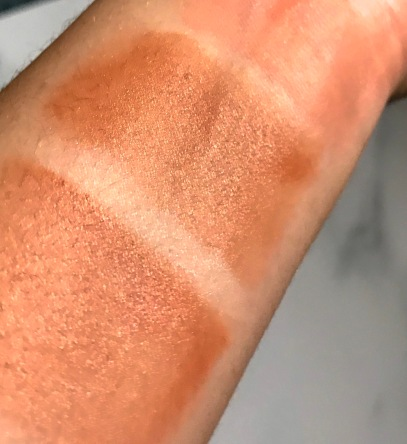 Glossier Cloud Paint Swatches in Dawn and Dusk