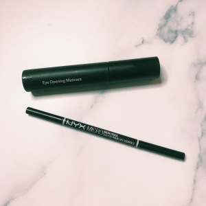 Bobbi Brown Eye Opening Mascara & NYX Micro Brow Pencil