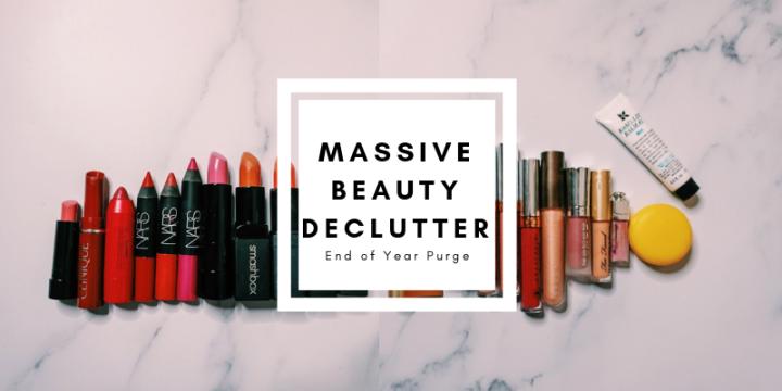 2018 Massive beauty declutter