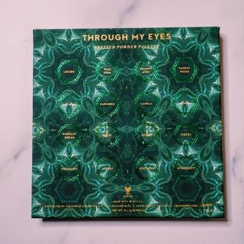 ColourPop x ILuvSarahii Through My Eyes Palette Packaging (back)