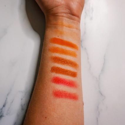 ColourPop x ILuvSarahii Through My Eyes Palette - Finger & Brush Swatches Row 2