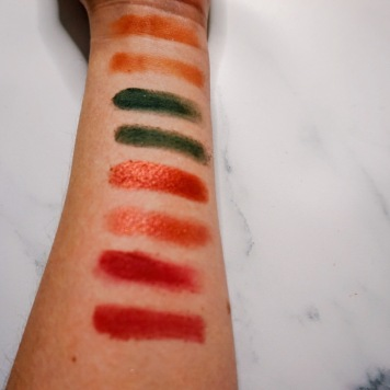 hrough My Eyes Palette - Finger & Brush Swatches Row 4