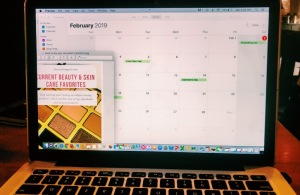 Using Apple Calendar to plan blog and social posts