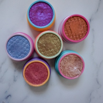 ColourPop Super Shock Shadows: Milky Way, ZZZ, Falling Up, Roy G. Biv, REM, IRL