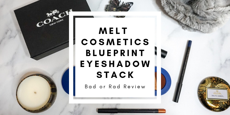 Melt Cosmetics BluePrint Eyeshadow Stack, All/Day Everyday Eyeliner, and Liquid Lipstick in Circuit