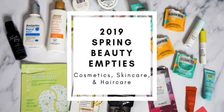 Spring Beauty Empties - Cosmetics, Skincare, Haircare