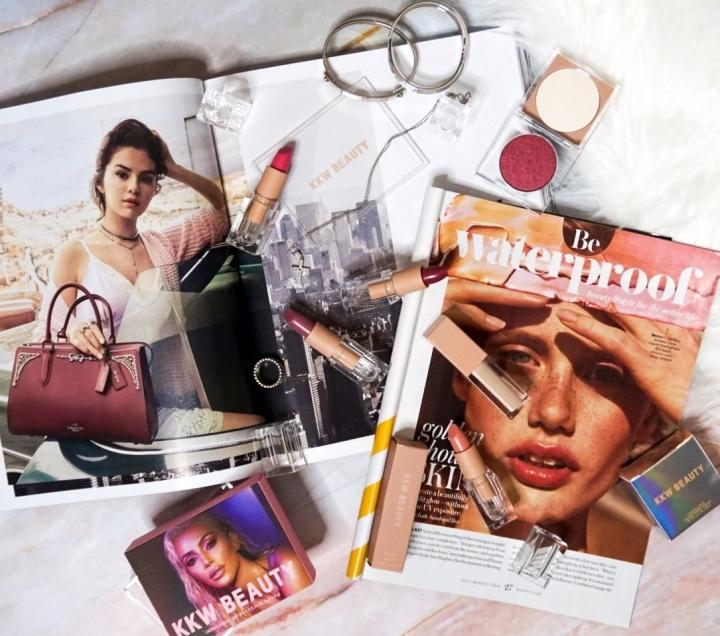 KKW Beauty Best of Pink Lipsticks, Liquid Concealer + Pressed Pigment #3